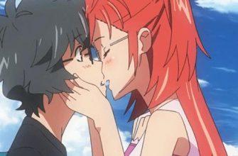 Аниме поцелуи гифки