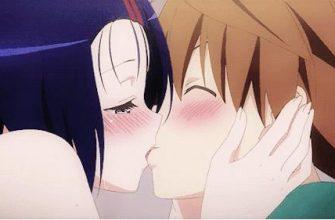 Аниме поцелуй картинки